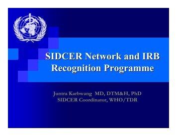 Juntra Karbwang, coordinator, UNICEF, UNDP, World ... - UNICRI