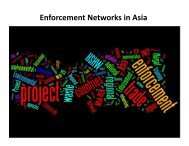 Enforcement Network, UNEP Regional Office for Asia and ... - UNICRI