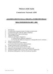 Aggiornamento sulla Terapia Antiretrovirale dell'infezione ... - UNICRI