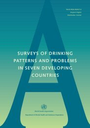 surveys of drinking patterns and problems in seven ... - UNICRI