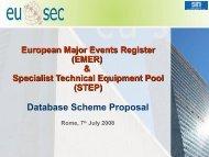 (EMER) & Specialist Technical Equipment Pool (STEP). - UNICRI