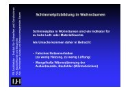 Schimmelpilzbildung in Wohnräumen - Unics.uni-hannover.de