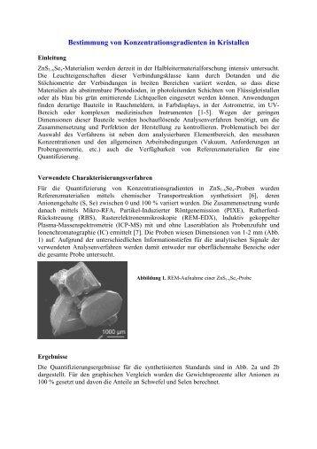Bestimmung von Konzentrationsgradienten in Kristallen - Unics.uni ...
