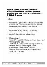 Vorlesungsteil Regenwasser - Unics.uni-hannover.de