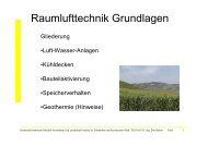 Vorlesung Kühlung / Bauteilaktivierung - Unics.uni-hannover.de