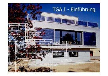 TG A I - Einführung TGA I - Einführung - Unics.uni-hannover.de
