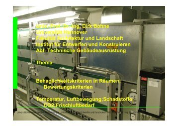 Vorlesung Behaglichkeit in Räumen - Unics.uni-hannover.de