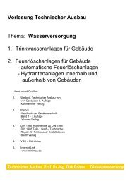 Vorlesung Wasserversorgung - Unics.uni-hannover.de