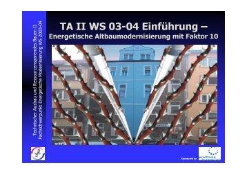Fach TA 2 - Vorstellung - Unics.uni-hannover.de
