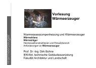 W ärmeerzeuger - Unics.uni-hannover.de