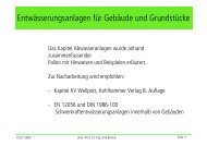 Vorlesung Abwassertechnik - Unics.uni-hannover.de