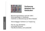 Vorlesung Heizlast - Unics.uni-hannover.de