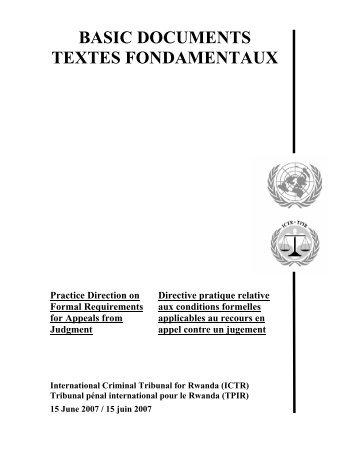 Directive Pratique relative aux conditions formelles applicables au ...