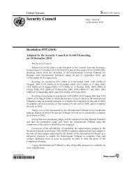 Resolution 1955 - International Criminal Tribunal for Rwanda