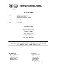 decision on bagosora motion for exclusion of evidence outside the ...