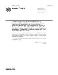 S/2007/676 - International Criminal Tribunal for Rwanda