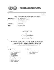 DECISION ON AMICUS CURIAE REQUEST BY THE ...