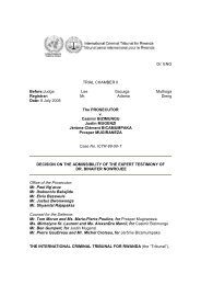 decision on the admissibility of the expert testimony of - International ...