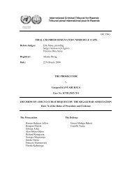 DECISION ON AMICUS CURIAE REQUEST BY THE KIGALI BAR ...