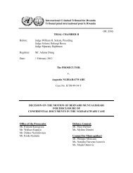 decision on the motion of bernard munyagishari for disclosure of ...