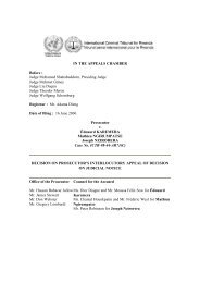 decision on prosecutor's interlocutory appeal of decision on judicial ...