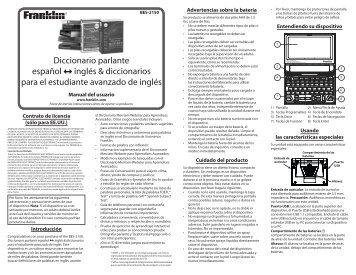 Español inglés & Diccionarios para El Estudiante ... - Flamagas