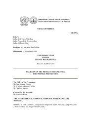 decision on the prosecutor's motion - International Criminal Tribunal ...