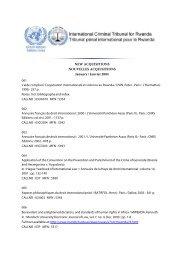 January 2004 - International Criminal Tribunal for Rwanda