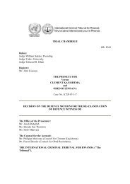 decision on the defence motion for the re-examination - International ...
