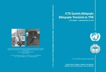 No. 12 - 13, March-June 2002 - International Criminal Tribunal for ...