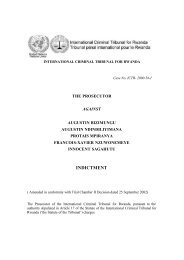 INDICTMENT - International Criminal Tribunal for Rwanda