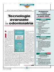 Tecnologie avanzate in odontoiatria - Unidi
