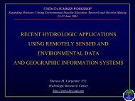 Recent Hydrologic Applications Using Remotely Sensed ... - Unidata