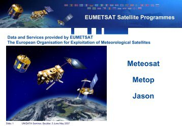 EUMETSAT Satellite Programmes - Unidata