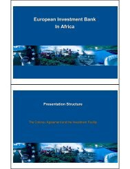 European Investment Bank In Africa - Unido