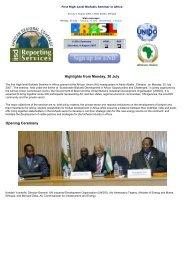 First High-level Biofuels Seminar in Africa - Unido