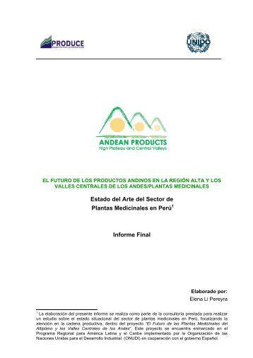 Estado del Arte del Sector de Plantas Medicinales en Perú ... - Unido