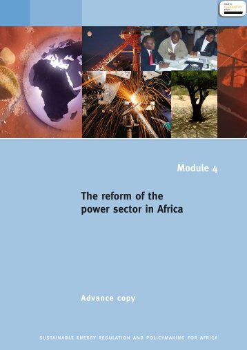 Module 4 The reform of the power sector in Africa - Unido