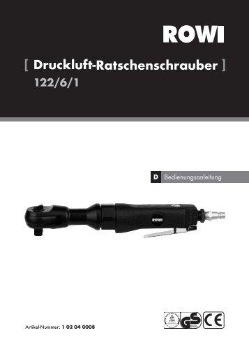 [ Druckluft-Ratschenschrauber ] 122/6/1 - uniDomo GmbH & Co KG