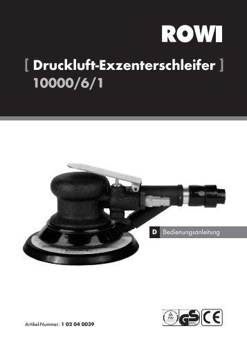 [ Druckluft-Exzenterschleifer ] 10000/6/1 - uniDomo GmbH & Co KG