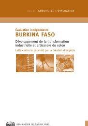 Évaluation indépendante BURKINA FASO - Unido