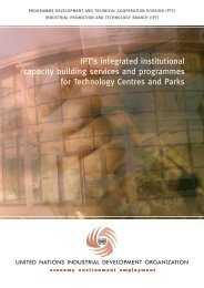 IPT's integrated institutional capacity building services and ... - unido