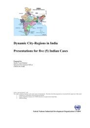 Dynamic City-Regions in India Presentations for five (5 ... - Unido