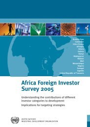 Africa Foreign Investor Survey 2005 - unido
