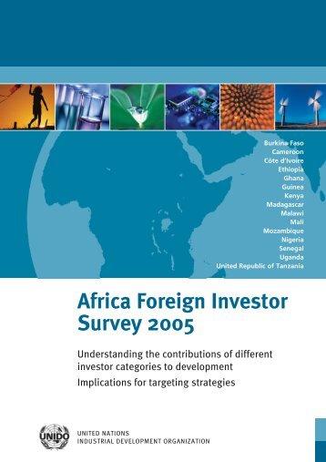 Africa Foreign Investor Survey 2005 - unido