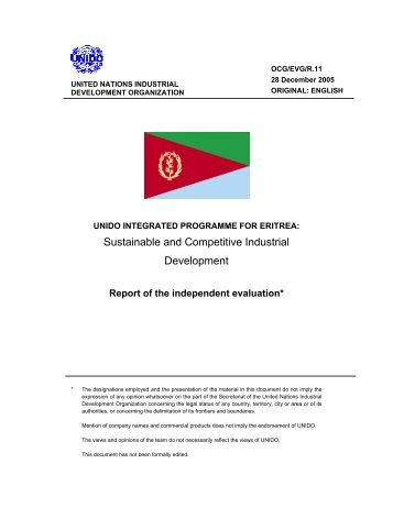Sustainable and Competitive Industrial Development - Unido