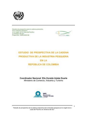 ESTUDIO DE PROSPECTIVA DE LA CADENA ... - unido