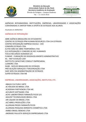 Confira a lista aqui - Unifesp