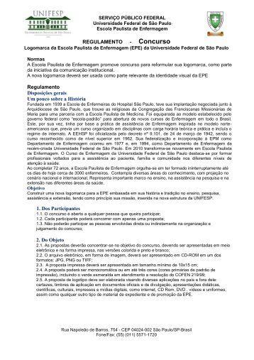 Regulamento em PDF - Unifesp