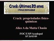 Crack: propriedades físico- químicas - Unifesp